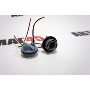 Разъем  P21W BA15S S25 1156 1 контакт  пластиковый поворотный с проводами