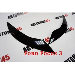 Реснички  на фары Ford Focus 3 2011-2015г до рестайлинга 2шт