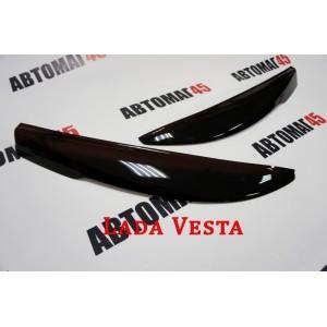 Реснички  на фары Lada Vesta Веста 2шт