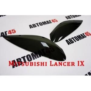Реснички  на фары Mitsubishi Lancer 9 2шт