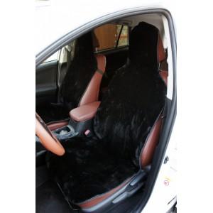 Накидка  на сиденье короткий ворс черный 40% 145х55см