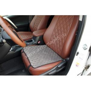 888-2  Накидка на сиденье на силиконе велюр серый 45 x 45см 1шт