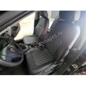 Авточехлы  Volkswagen Jetta с 2011г экокожа черная ромб
