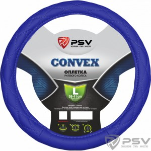 PSV CONVEX оплетка руля кожа стеганая синяя размер L
