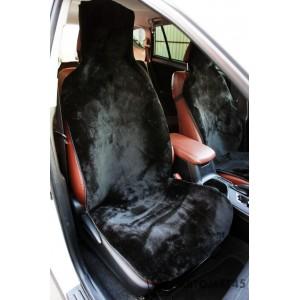 Накидка на сиденье короткий ворс черный 40% 145х55см 1шт