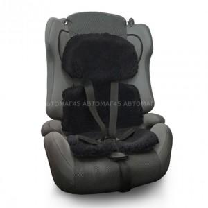 Накидка на детское сиденье короткий ворс черный 80% 1шт