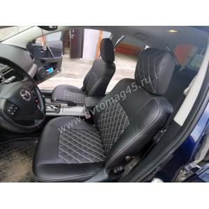 Авточехлы  Mazda 6 с 2013г экокожа черная ромб
