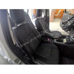 Авточехлы  Ford Focus 3 Trend экокожа черная ромбы