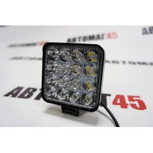 Lightway  светодиодная фара мини рабочий свет 16 диодов 48Вт 12В квадрат 1шт гарантия 1 месяц