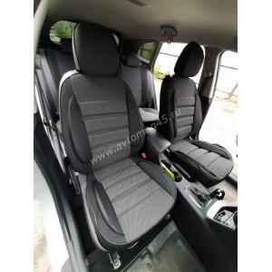 Авточехлы  Kia Ceed 2012-2018г жаккард черно-серый