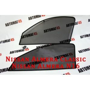 BRENZO каркасные шторки на магнитах Nissan Almera Classic 2006-2013 Nissan Almera N16 передние 2шт стандарт 10%