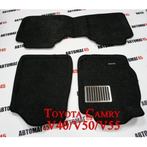 EUROMAT  коврики в салон 3D ворс Toyota Camry  V40-V55 06-18г комплект серый