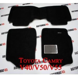 EUROMAT  коврики в салон 3D ворс Toyota Camry  V40-V55 06-18г комплект черный