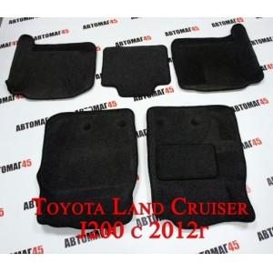 BORATEX  коврики в салон 3D ворс Toyota Land Cruiser J200 с 2012г Lexus GX 570 комплект