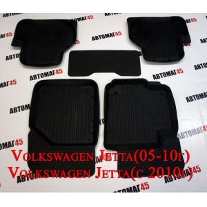 Коврики  в салон Volkswagen Golf V VI Jetta до 2011 с 2011г комплект 4шт
