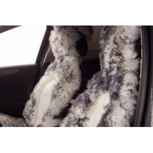 Накидки комбинированные бело-серый волк 140х50см 2шт