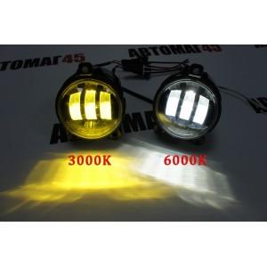 SAL-MAN 2 режима 3000 6000К Фары противотуманные Лада Приора Газель Нива Шевроле Niva LED 50W 4800LM 2шт гарантия 6 мес