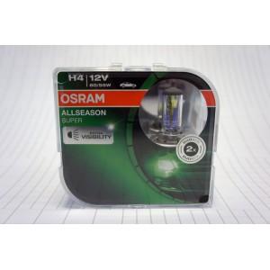 Osram  лампа H4 Allseason super +30% 12V/60-55W 2шт