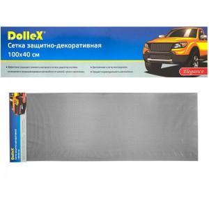 Dollex  сетка защитно-декоративная ячейка 20ммх6мм 40х100см черная сота