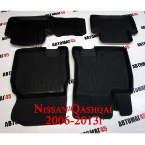 Коврики  в салон Nissan Qashqai 2007-2014г комплект 4шт