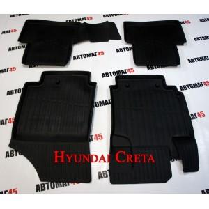 Коврики  в салон Hyundai Creta комплект 4шт