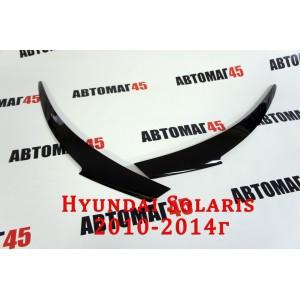 Реснички  на фары Hyundai Solaris до 2014г 2шт