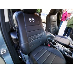 Авточехлы  Mazda CX-5 низ 1/1 верх 3/3 экокожа черная