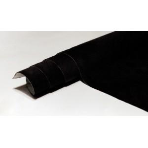 Алькантара  самоклеющаяся черная 1м х 1,5м