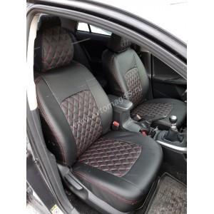 Авточехлы  Toyota Corolla 2007-2013г кузов 150 экокожа черная ромб