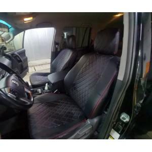 Авточехлы  Toyota Land Cruiser Prado до 2017г кузов J150 экокожа черный ромб