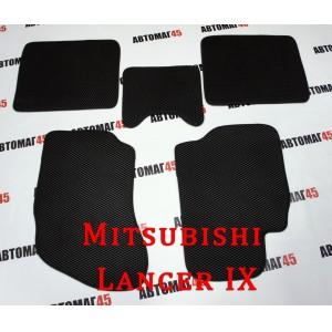 EVA ЭВА  коврики в салон Mitsubishi Lancer 9 черные рисунок ромб  4шт
