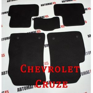 EVA ЭВА  коврики в салон Chevrolet Cruze черный рисунок ромб комплект 4шт