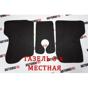 EVA ЭВА  коврики в салон Газель трехместная черные рисунок ромб 3шт