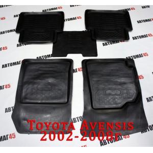 Коврики  в салон Toyota Avensis кузов Т250 2003-2009г комплект 4шт