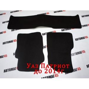 EVA ЭВА  коврики в салон УАЗ Patriot Патриот до 2014г черные рисунок ромб комплект 4шт