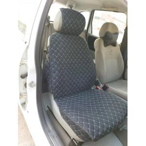 Чехлы  накидки на сиденье лен 2Д черный передние 2шт