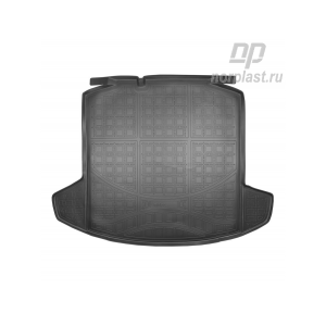 NorPlast  коврик в багажник полиуретан Skoda Rapid с 2013г Volkswagen Polo Лифтбэк c 2020г с карманами