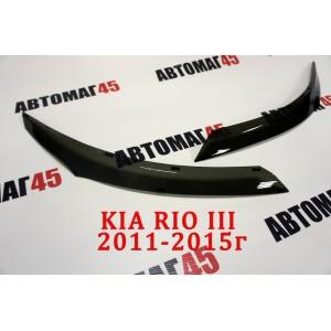 Реснички  на фары Kia Rio 2011-2015г 2шт
