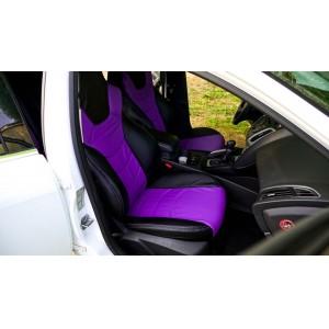 Динас  чехлы универсальные экокожа черный фиолетовый комплект