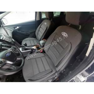 Авточехлы  Ford Focus 3 Trend жаккард черно-серый