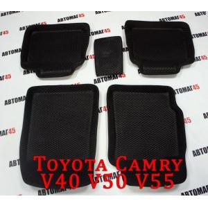 BORATEX коврики в салон 3D EVA ЭВА Toyota Camry V40 V50 V55 2006-2017г черные рис ромб компл 5шт