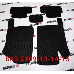 EVA ЭВА  коврики в салон ВАЗ 2109 2114 2115 черные рисунок ромб  комплект 4шт