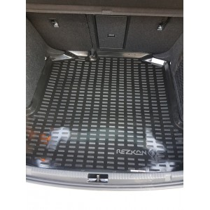 Rezkon  коврик в багажник пластик Volkswagen POLO лифтбэк с 2020г с карманами