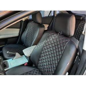 Авточехлы  Mazda 6 2007-2013г только хэтчбэк и лифтбэк экокожа черный ромб