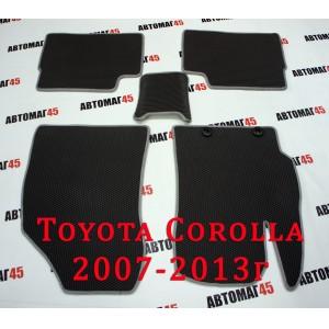 EVA ЭВА  коврики в салон Toyota Corolla 2007-2013 Toyota Auris 2006-2013г серый рисунок соты комплект 4шт