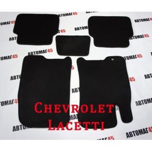 EVA ЭВА  коврики в салон Chevrolet Lacetti черный рисунок ромб комплект 4шт
