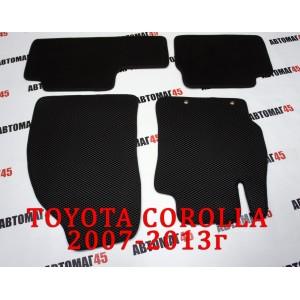 EVA ЭВА  коврики в салон Toyota Corolla 2007-2013 Toyota Auris 2006-2013г черный рисунок ромб комплект 4шт