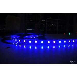 Лента  светодиодная синяя Т5050 1м