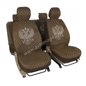 Чехлы  накидки на сиденье серия G лен коричневый комплект 5шт