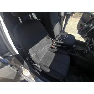 Авточехлы  Skoda Rapid с 2012г 2/3 Volkswagen Polo лифтбэк с 2020г жаккард черно-серый